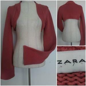 Zara Salmon Bolero Shrug Size M